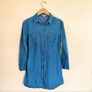 Charlotte Russe button up Jean Dress